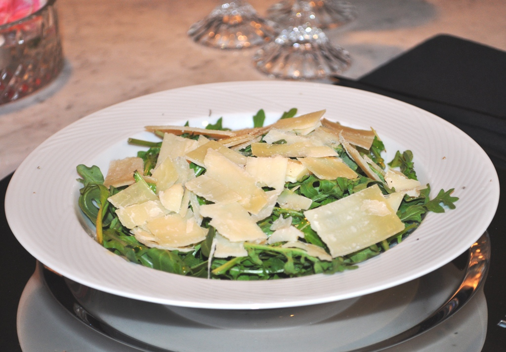 Arugula Salad with Fresh Shaved Parmesan