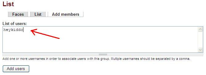 Add members to group form