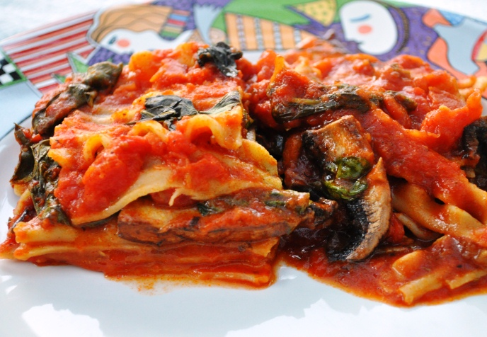 Eggplant and Spinach Vegetarian Lasagna