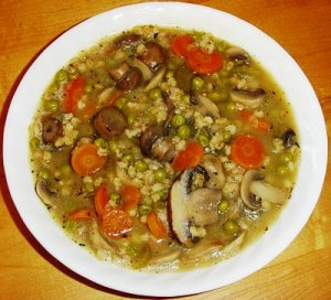 Barley Soup with Porcini Mushrooms