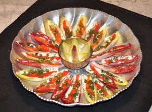 Endive with smoked salmon hors d'oeuvres
